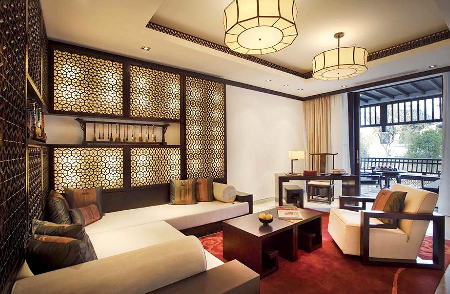 新中式风格酒店 套房家具厂家直销 JNKF-20