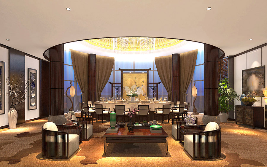 中式风格 酒店包厢家具定制