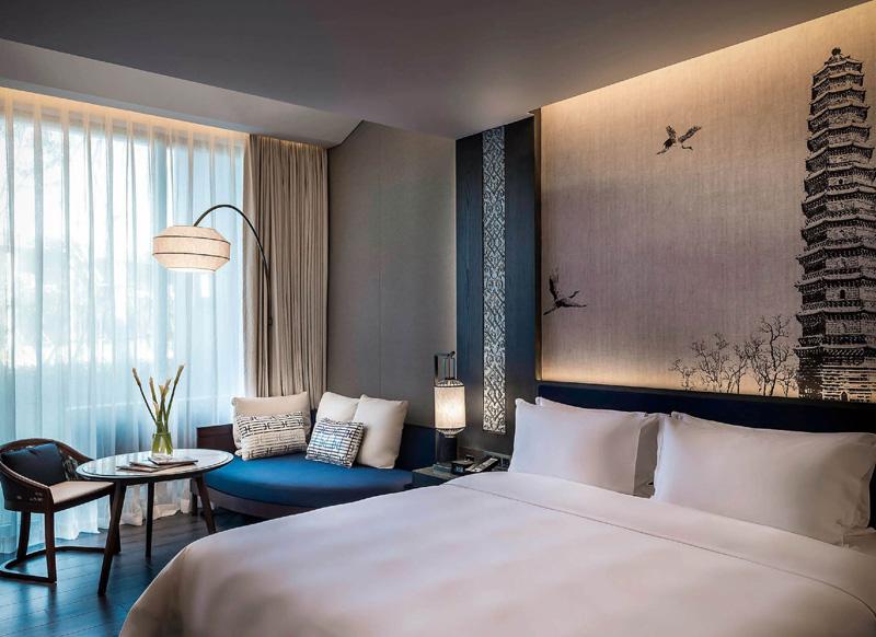 酒店实木双人床